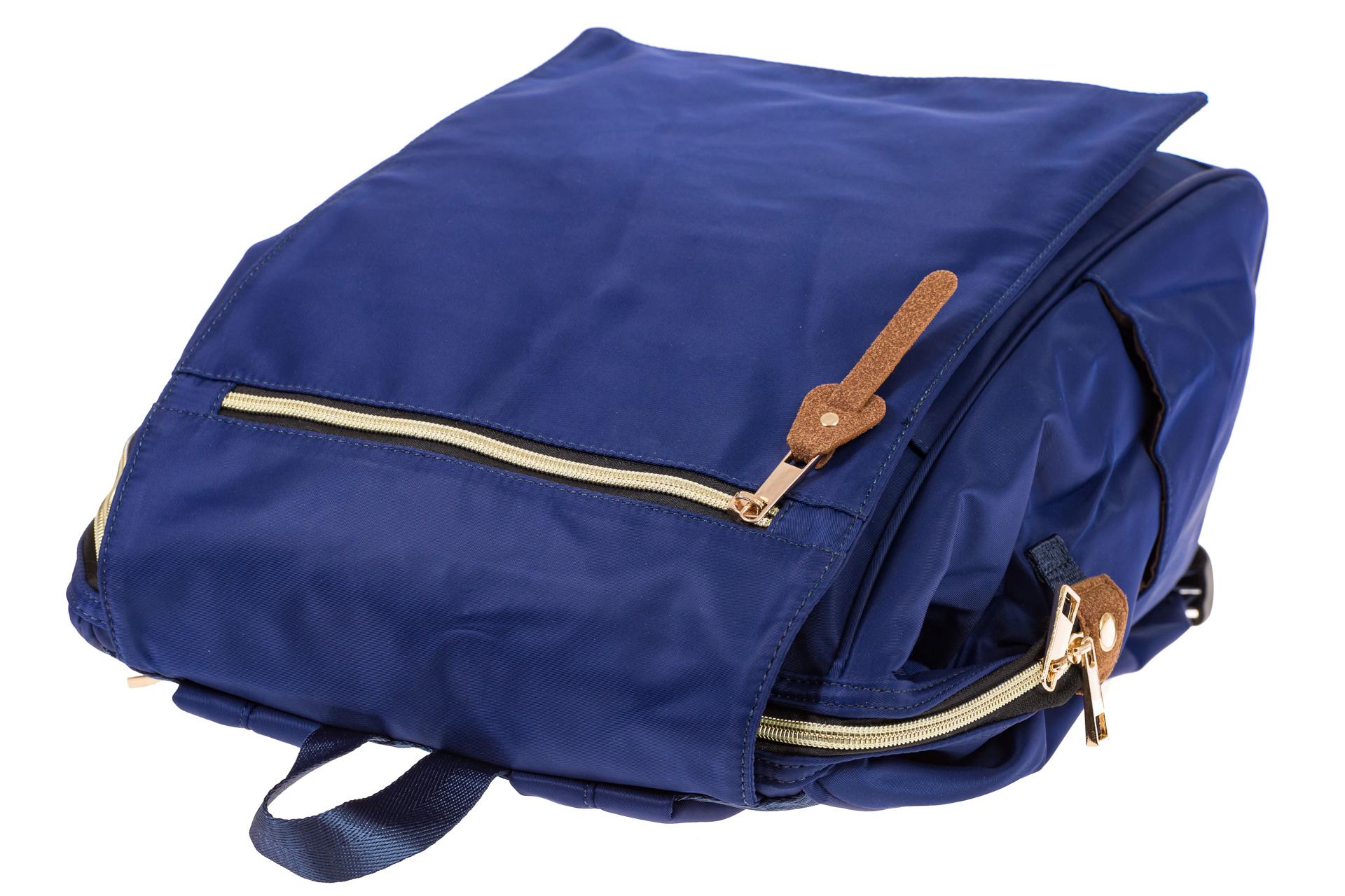 На фото 4 - Оригинальный молодежный рюкзак из текстиля, цвет – синий