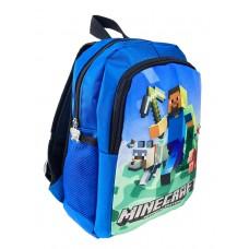 На фото 1 - Рюкзак детский с ярким принтом, цвет синий