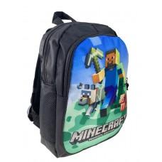 На фото 1 - Рюкзак детский с ярким принтом, цвет чёрный