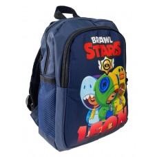 На фото 1 - Небольшой детский рюкзак с принтом, цвет тёмно-синий
