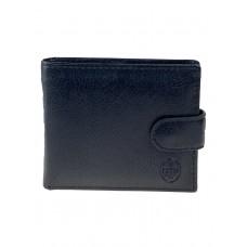 На фото 1 - Мужское чёрное портмоне из натуральной кожи