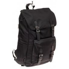 На фото 1 - Мужской городской рюкзак-торба, цвет черный