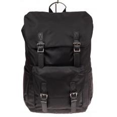 На фото 2 - Мужской городской рюкзак-торба, цвет черный