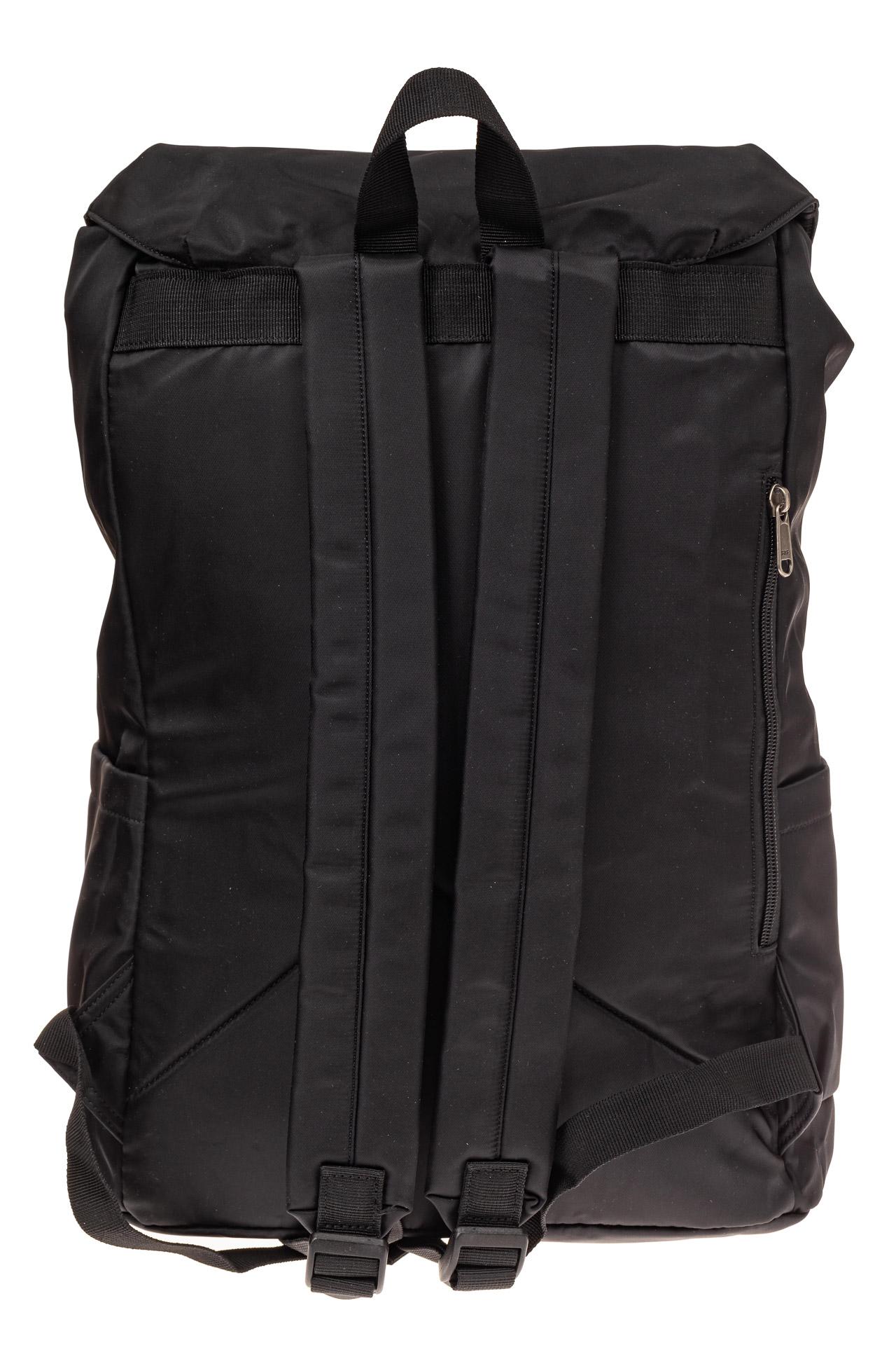 На фото 3 - Мужской городской рюкзак-торба, цвет черный