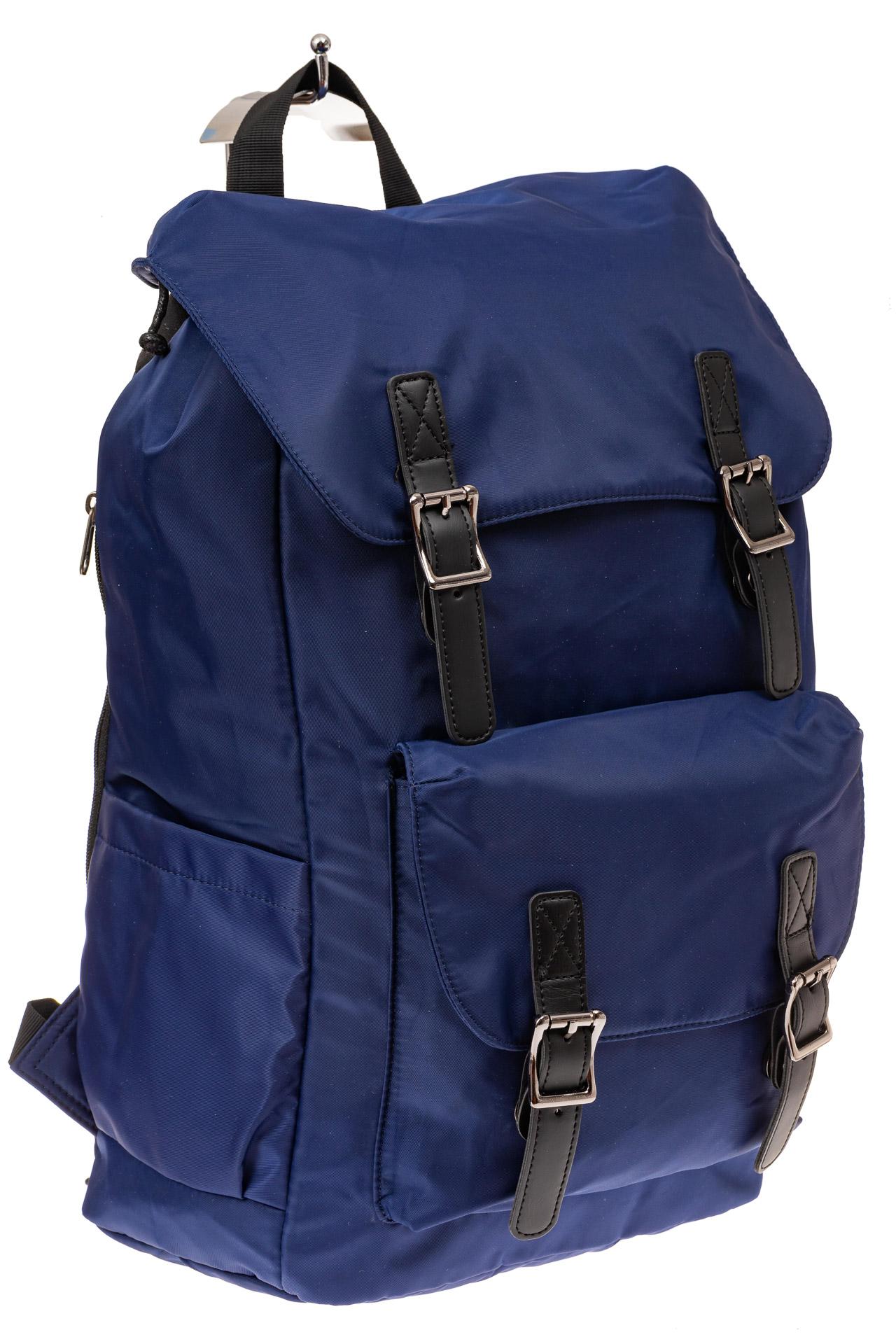 На фото 1 - Мужской городской рюкзак-торба, цвет синий