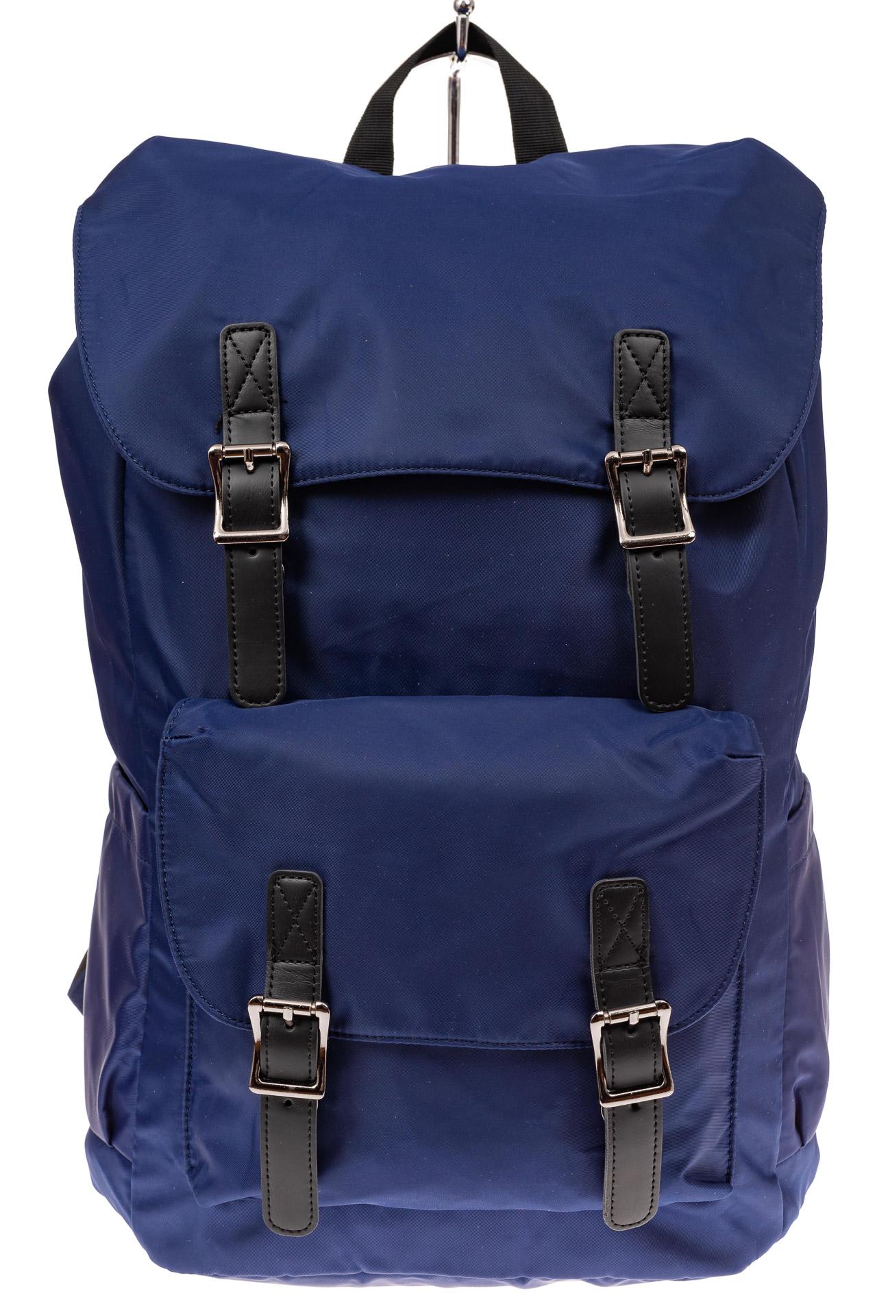 На фото 2 - Мужской городской рюкзак-торба, цвет синий