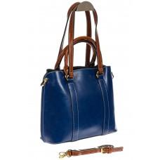 На фото 1 - Синяя женская сумка шоппер-тоут из искусственной кожи