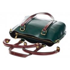 На фото 4 - Зеленая женская сумка шоппер-тоут из искусственной кожи