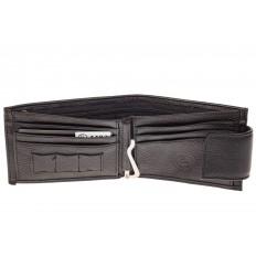 На фото 2 - Классический мужской кошелек из кожи, цвет черный