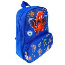 На фото 1 - Синий рюкзачок для детей с принтом