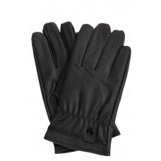 На фото 1 - Перчатки женские из искусственной кожи ,цвет чёрный
