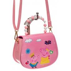 На фото 1 - Детская сумка кросс-боди, цвет розовый с му...