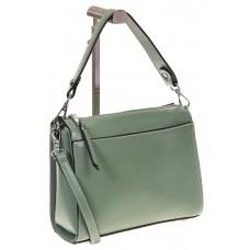 на фото Shoulder bag из натуральной кожи, цвет зеленый с голубым 5001MK5