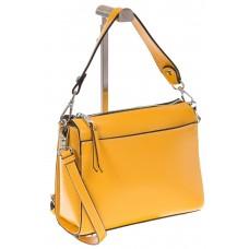 на фото Shoulder bag из натуральной кожи желтого цвета 5001MK5