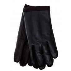 На фото 1 - Кожаные мужские  перчатки на флисе, цвет коричневый