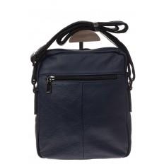 На фото 3 - Мужская сумка из натуральной кожи, цвет синий