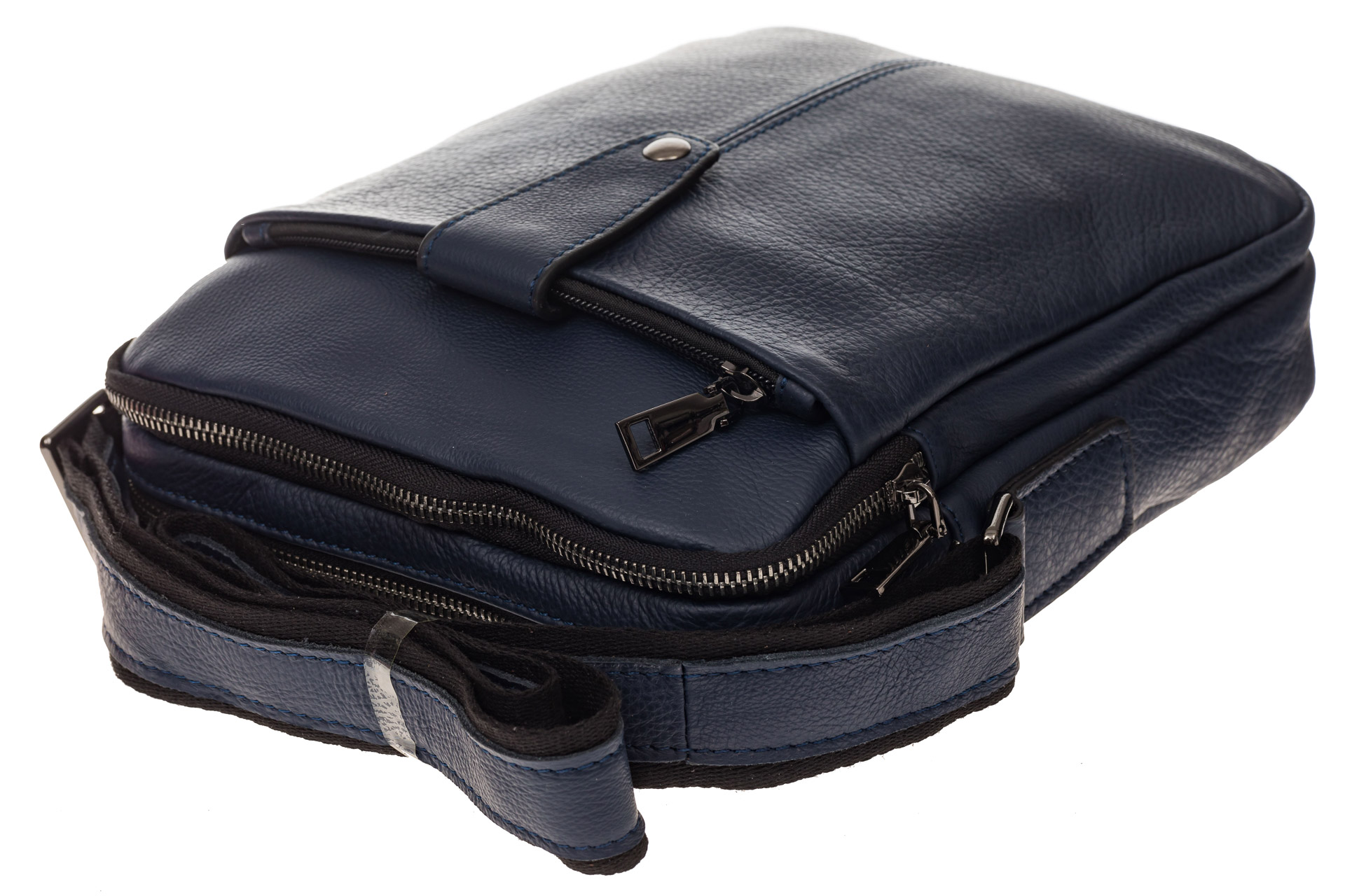 На фото 4 - Мужская сумка из натуральной кожи, цвет синий