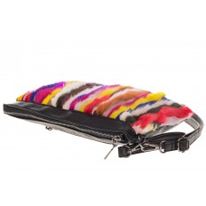 На фото 4 - Меховая сумка кросс-боди, яркий мультицвет