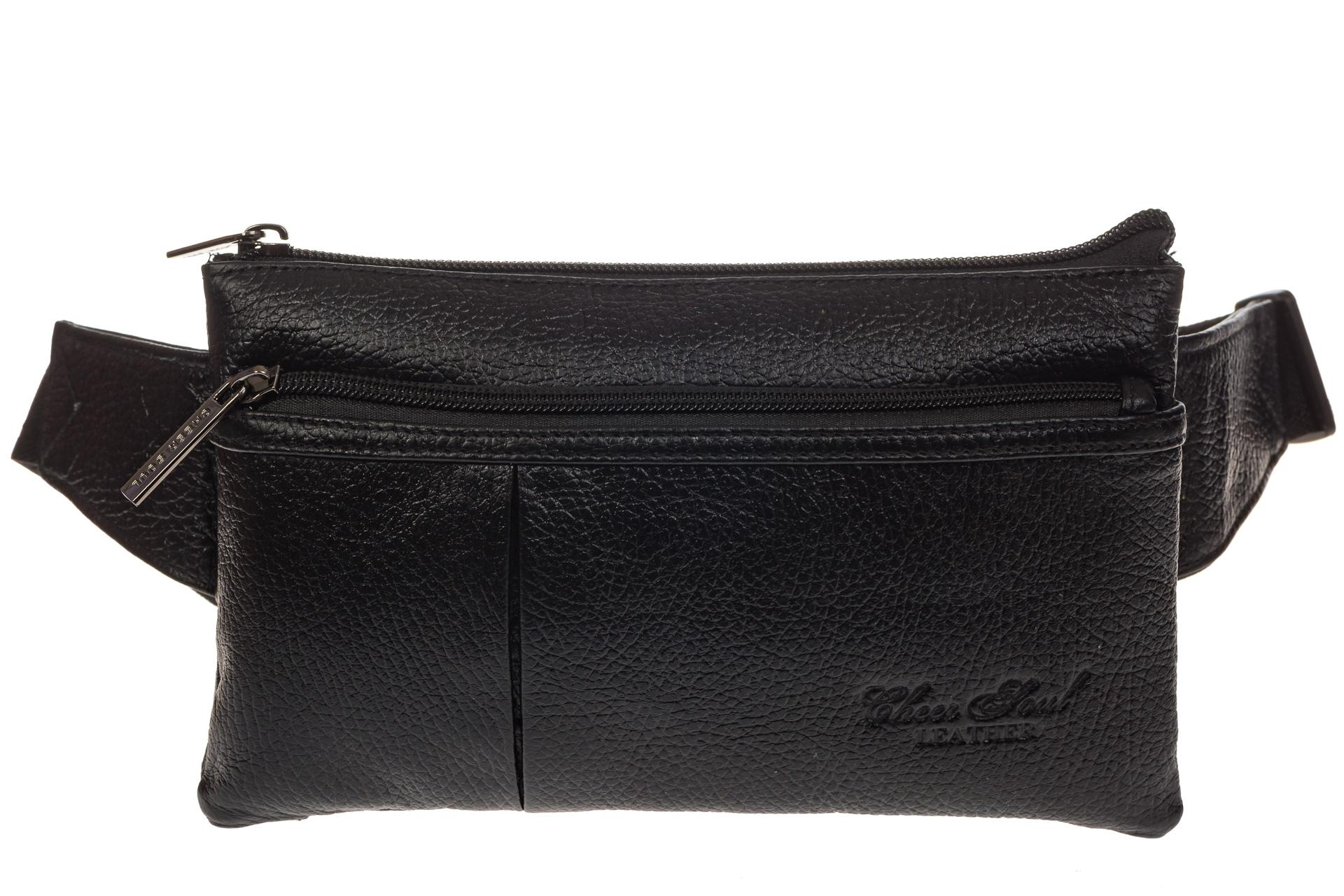 На фото 2 - Маленькая мужская сумка из натуральной кожи