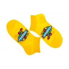 На фото 1 - Женские носки с принтом. Продажа от 1 пары