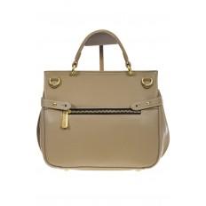 На фото 3 - Серая сумка из кожи с верхним клапаном 5046-1