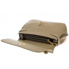На фото 4 - Серо-зеленая сумка из кожи с верхним клапаном 5046-1