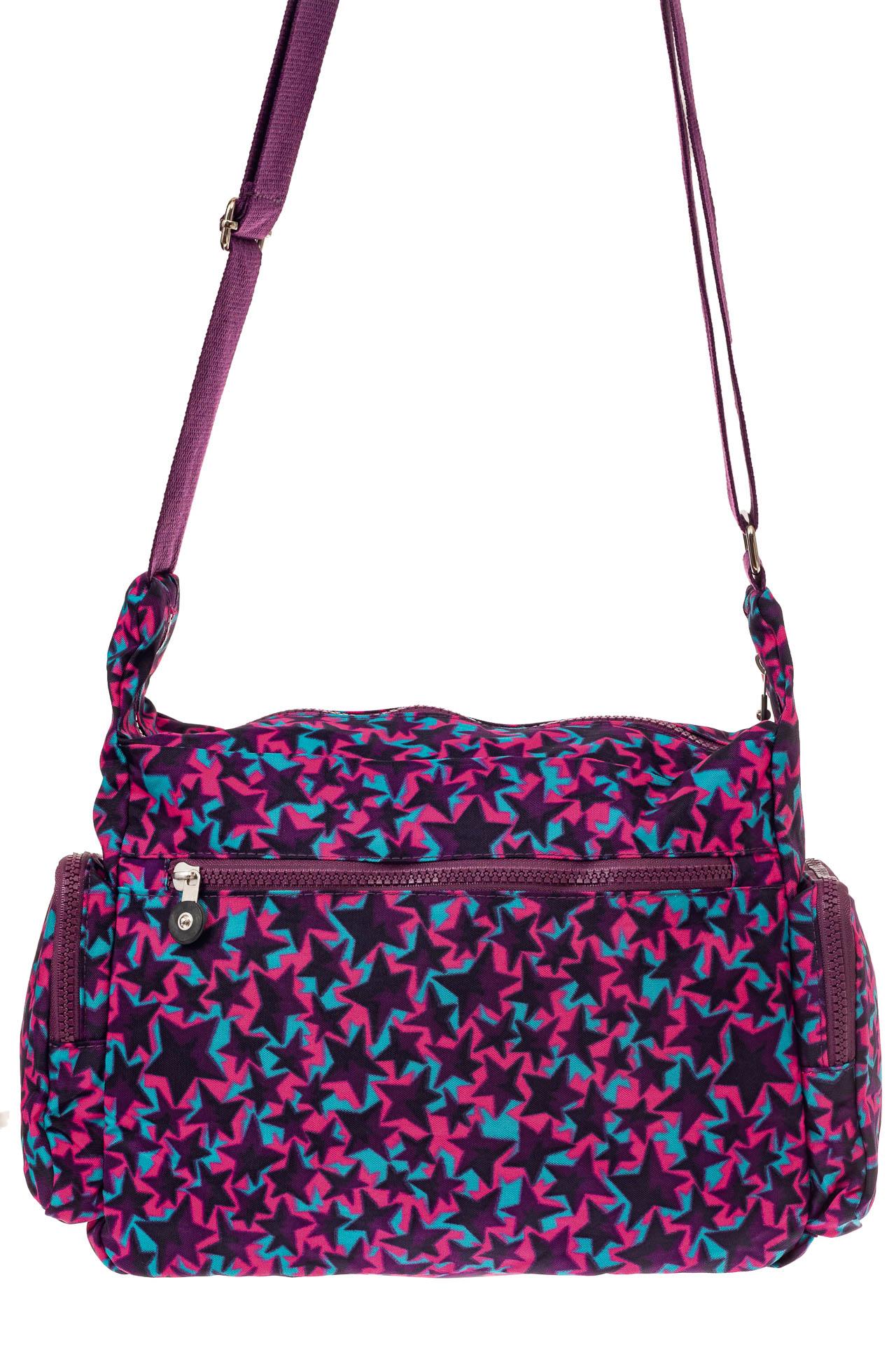 На фото 3 - Текстильная сумка с принтом, цвет фиолетовый