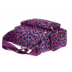 На фото 4 - Текстильная сумка с принтом, цвет фиолетовый