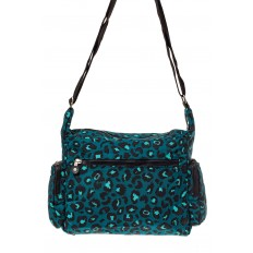На фото 3 - Текстильная  сумка с принтом, цвет бирюзовый