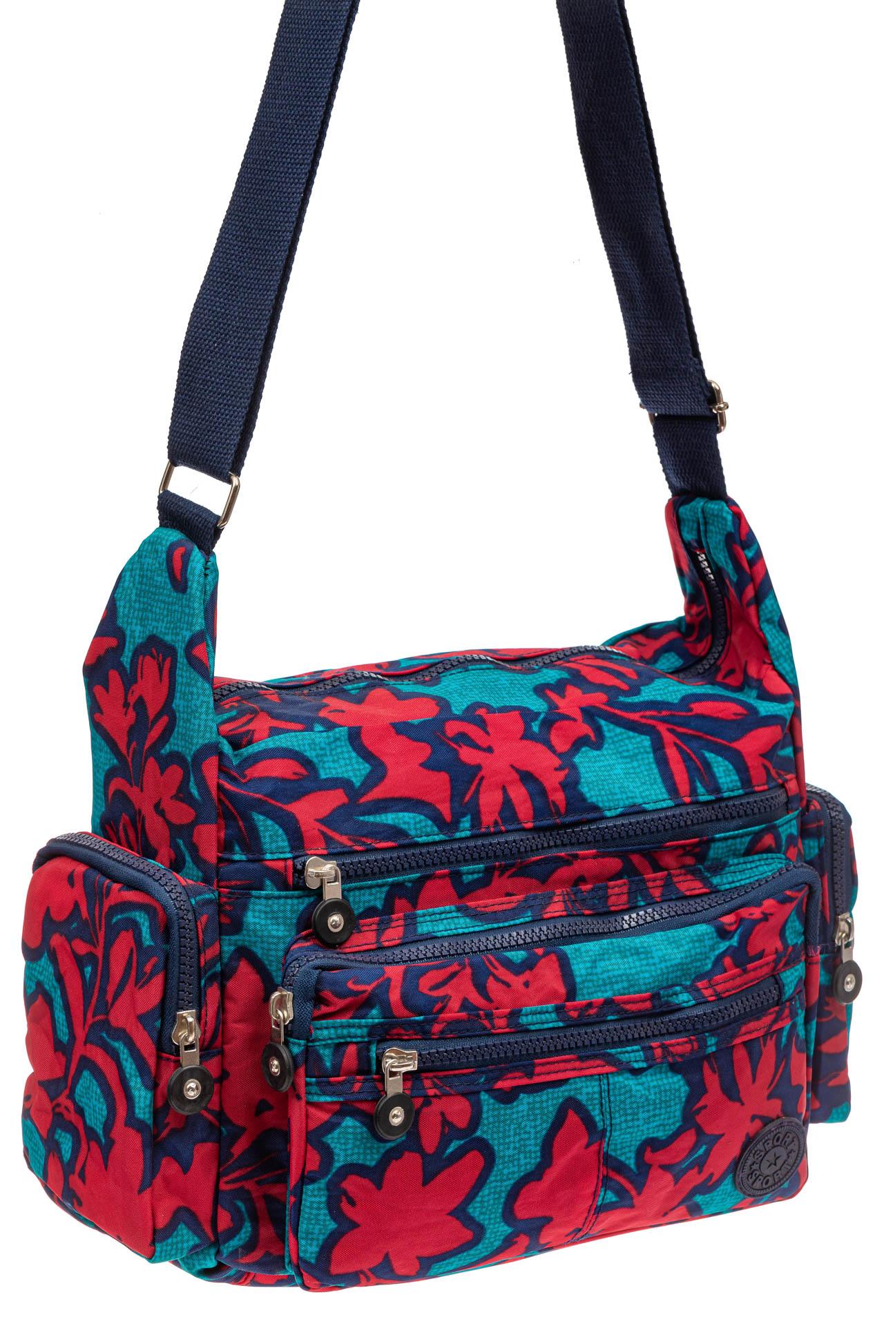 На фото 1 - Текстильная сумка 2019 с принтом, цвет фуксия