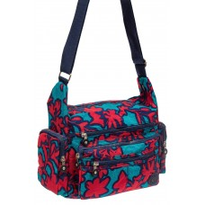 На фото 1 - Текстильная сумка 2019 с принтом, цвет фукс...