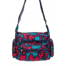 На фото 2 - Текстильная сумка 2019 с принтом, цвет фуксия