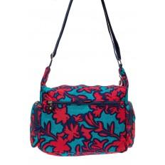 На фото 3 - Текстильная сумка 2019 с принтом, цвет фуксия