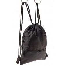 На фото 1 - Мешок для обуви в школу, цвет черный
