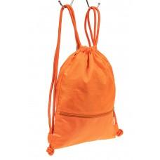 На фото 1 - Мешок для обуви в школу, цвет оранжевый