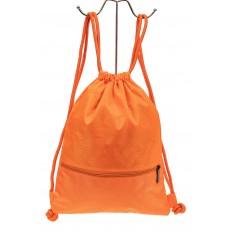 На фото 2 - Мешок для обуви в школу, цвет оранжевый