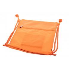 На фото 3 - Мешок для обуви в школу, цвет оранжевый