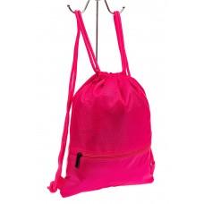 На фото 1 - Мешок для обуви в школу, цвет розовый