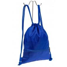 На фото 1 - Мешок для обуви в школу, цвет голубой