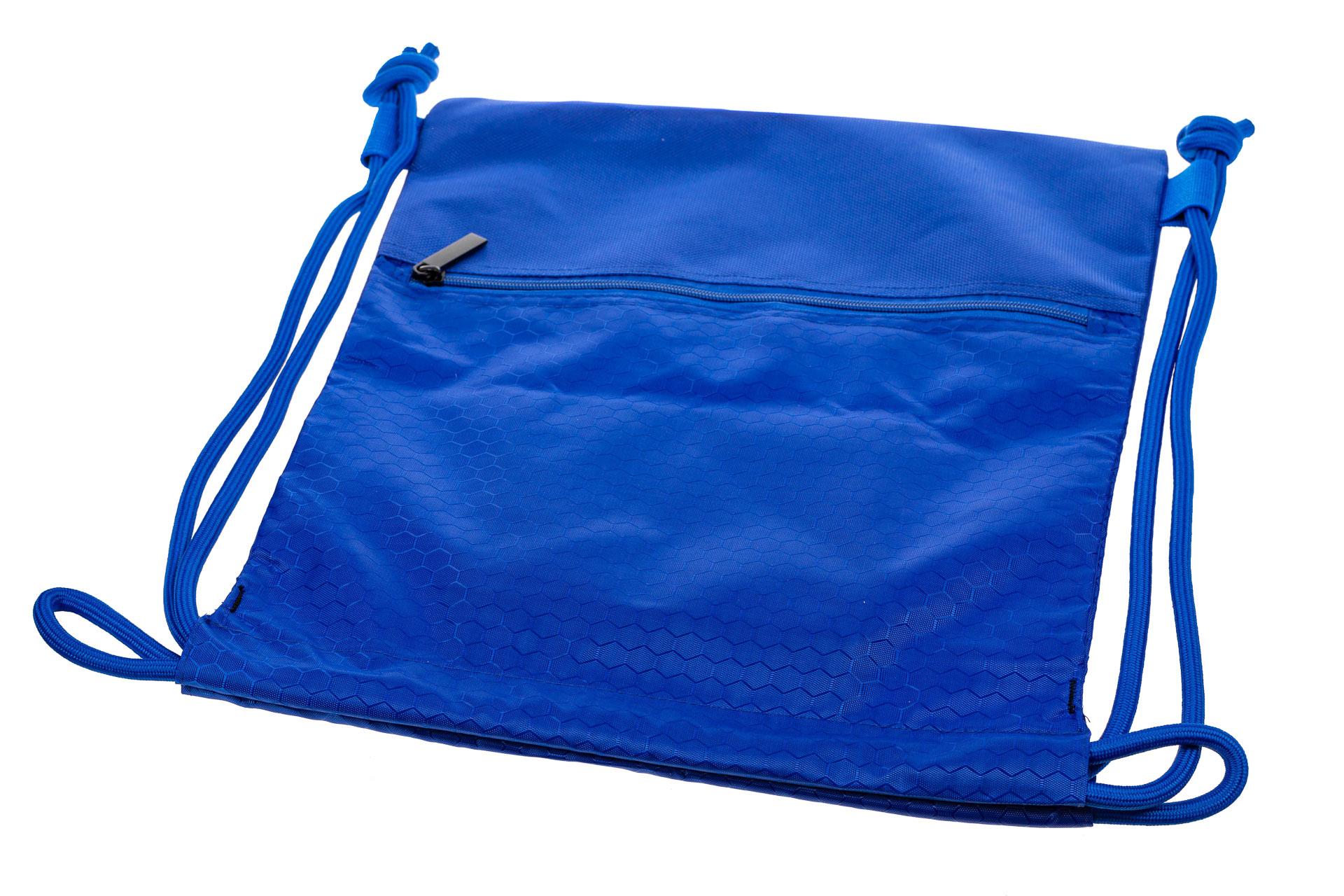 На фото 3 - Мешок для обуви в школу, цвет голубой