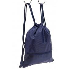 На фото 1 - Мешок для обуви в школу, цвет синий