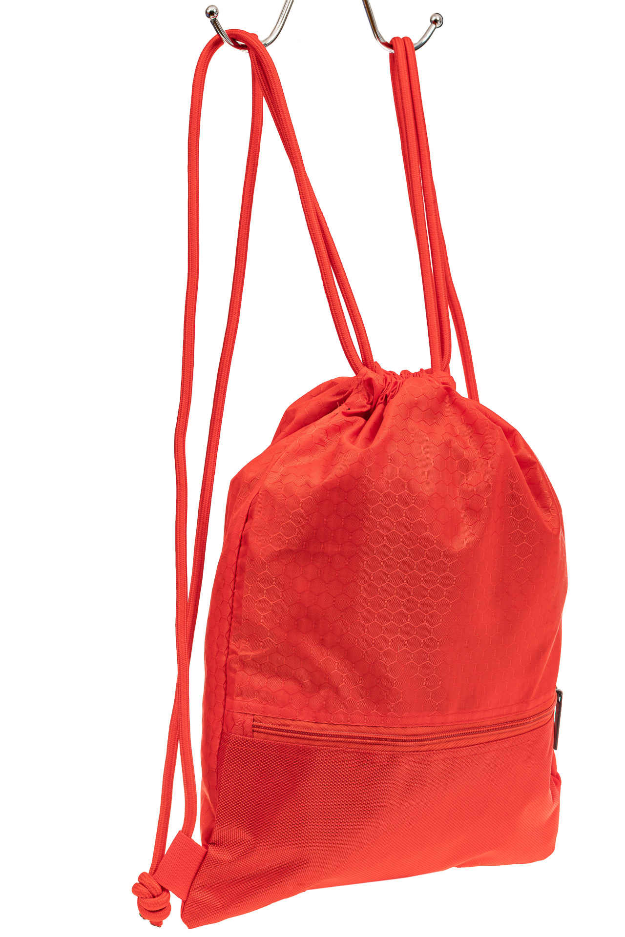 На фото 1 - Мешок для обуви в школу, цвет красный