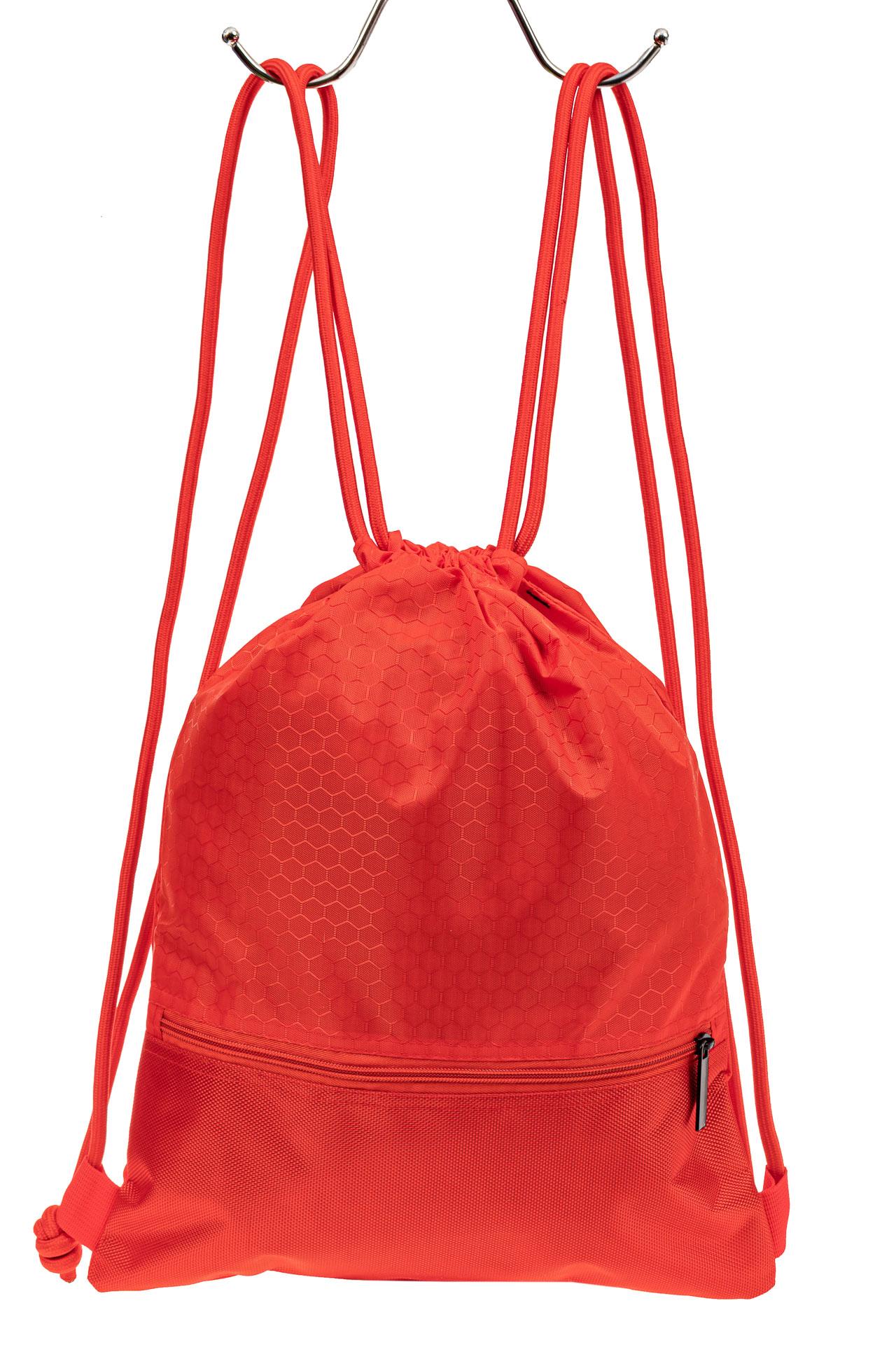 На фото 2 - Мешок для обуви в школу, цвет красный