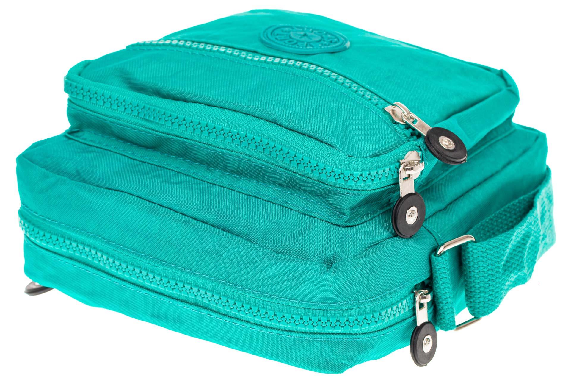 На фото 4 - Текстильная кросс-боди, цвет бирюзовый