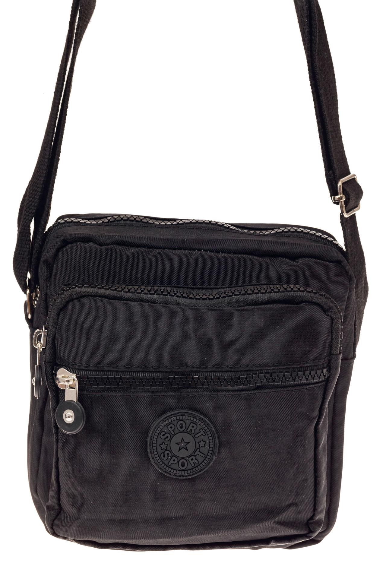На фото 2 - Текстильная кросс-боди, цвет черный