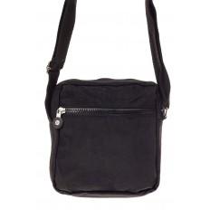 На фото 3 - Текстильная кросс-боди, цвет черный