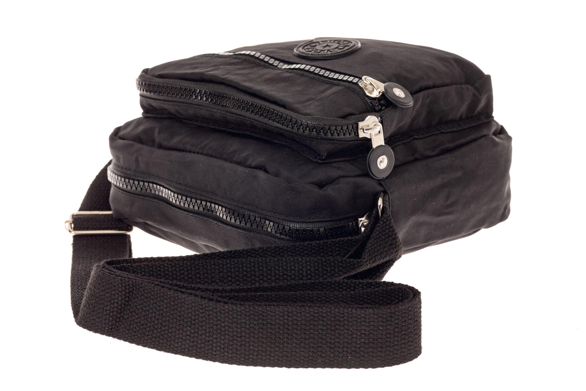 На фото 4 - Текстильная кросс-боди, цвет черный
