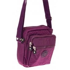 На фото 1 - Текстильная кросс-боди, цвет фиолетовый