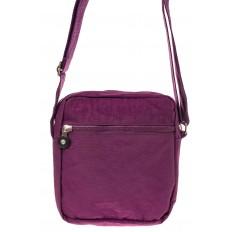 На фото 3 - Текстильная кросс-боди, цвет фиолетовый