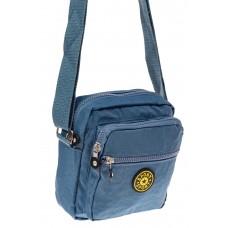 На фото 1 - Текстильная кросс-боди, цвет голубой
